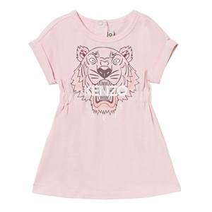 Kenzo Girls Dresses Pink Pale Pink Tiger Print Jersey Dress