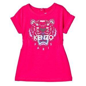 Image of Kenzo Girls Dresses Pink Hot Pink Tiger Print Jersey Dress