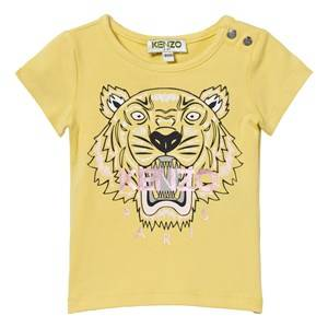 Kenzo Girls Tops Yellow Yellow Tiger Print Tee