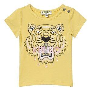 Kenzo Girls Tops Yellow Yellow Tiger Print Tee