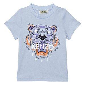 Kenzo Boys Tops Blue Blue Tiger Print Tee