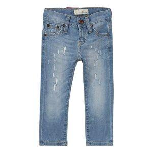 Levis Kids Boys Bottoms Blue Light Wash 520 Extreme Taper Distressed Jean