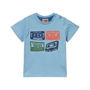 Levis Kids Girls Tops Blue Pale Blue Cassette Print Tee