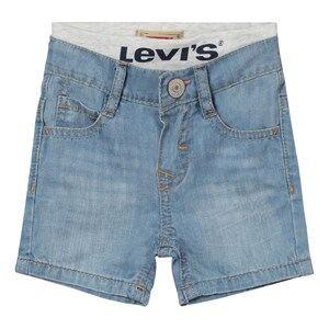 Levis Kids Girls Shorts Blue Light Wash Pull Up Shorts