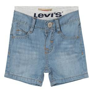 Levis Kids Girls Shorts Blue Light Wash Pull Up Shorts
