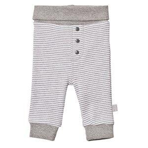 Hust&Claire; Unisex Bottoms Grey Striped Sweatpants Light Grey Mélange