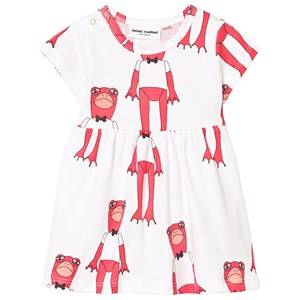 Mini Rodini Girls Dresses Pink Frogs Dress Cerise