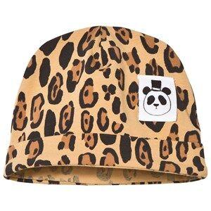 Mini Rodini Unisex Headwear Beige Basic Baby Beanie Leopard Beige