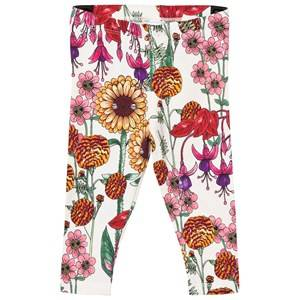 Mini Rodini Unisex Bottoms White Garden Leggings Off White