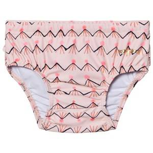 Image of Soft Gallery Girls Swimwear and coverups Pink Mina Swim Pants Scallop Shell
