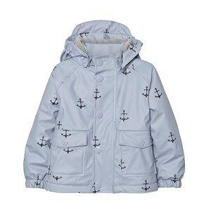Mini A Ture Unisex Coats and jackets Blue Julien Print Raincoat Ashley Blue