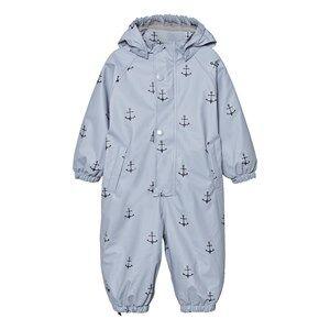 Mini A Ture Unisex Coveralls Blue Reinis Rainsuit Ashley Blue