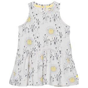 The Bonnie Mob Girls Dresses White Printed Sleeveless Dress Sunny Bunny Print
