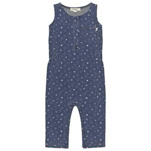 Image of The Bonnie Mob Unisex All in ones Blue Indigo Terry Sleeveless Jumpsuit
