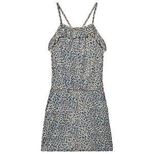 MarMar Copenhagen Girls Dresses Blue Leopard Dita Dress Teal Leo