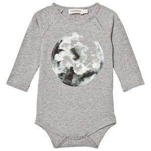 Image of MarMar Copenhagen Unisex All in ones Grey Bo Jersey Body Moon Print Grey