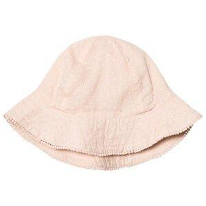 MarMar Copenhagen Girls Headwear Pink Alba Sunhat Peach Cream Dot
