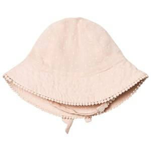 MarMar Copenhagen Girls Headwear Pink Alba Baby Sunhat Peach Cream Dot