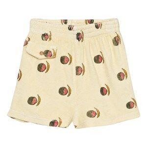 The Animals Observatory Unisex Shorts Yellow Poodle Bermuda Shorts Soft Yellow Fruit