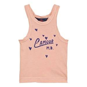 The Animals Observatory Unisex Tops Pink Frog Tank Top Pink L´Amour