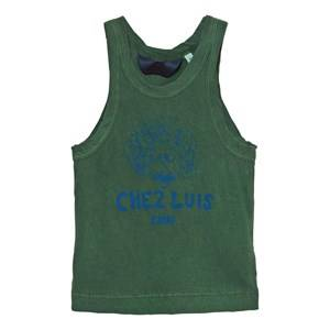 The Animals Observatory Unisex Tops Green Frog Tank Top Military Green Chez Luis