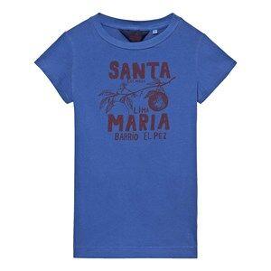 The Animals Observatory Girls Dresses Blue Gorilla Dress Blue Santa Maria