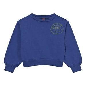 The Animals Observatory Unisex Jumpers and knitwear Navy Bear Sweatshirt Navy Blue Market