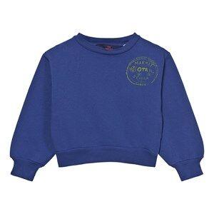 The Animals Observatory Unisex Jumpers and knitwear Navy Bear Sweatshirt Navy Blue Market