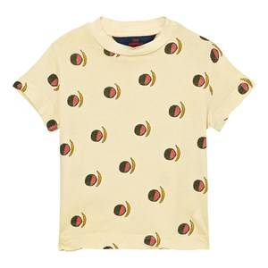 The Animals Observatory Unisex Tops Yellow Rooster T-Shirt Soft Yellow Fruit