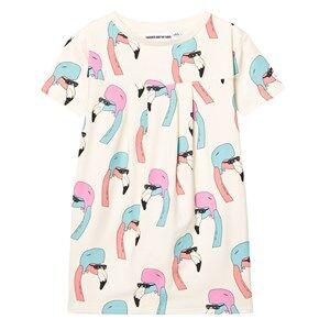Gardner and the gang Girls Dresses Cream Cool Dress Helmut Flamingo Cream White