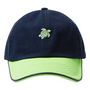 Vilebrequin Boys Headwear Navy NAVY GREEN TURTLE CAP