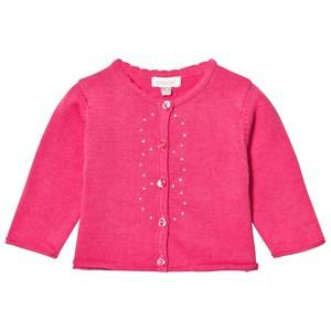 Image of Absorba Girls Jumpers and knitwear Pink Fuchsia Knit Cardigan with Diamante Detail