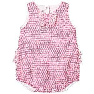 Image of Absorba Girls Dresses Pink Fuchsia Floral Bubble Body with Bow