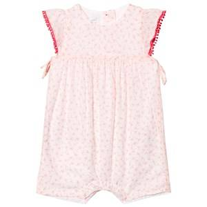 Image of Absorba Girls Dresses White Light Pink Flower Print Romper