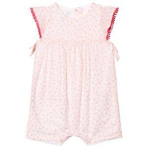 Image of Absorba Girls Dresses White Light Pink Flower Print Romper