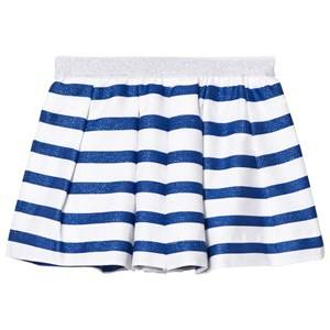 Image of Absorba Girls Skirts Blue Blue Glitter and White Stripe Skirt