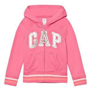 GAP Girls Jumpers and knitwear Pink Logo Terry Zip Hoodie Pixie Dust Pink