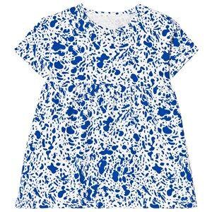 Tinycottons Girls Dresses White Enamel Oversized Dress Off White/Blue