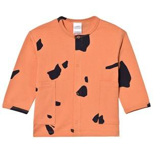 Tinycottons Unisex Jumpers and knitwear Pink Cut Outs Cardigan Dark Peach/Dark Navy