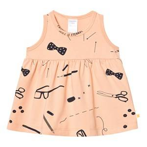 Tinycottons Girls Dresses Beige Tailor´s Dress Nude/Dark Navy