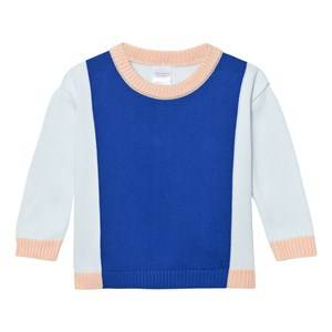 Tinycottons Unisex Jumpers and knitwear Blue Knit Color Block Sweater Light Blue/Blue