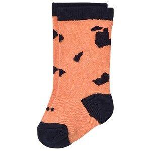 Tinycottons Unisex Underwear Pink Cut-Outs High Socks Dark Peach/Dark Navy