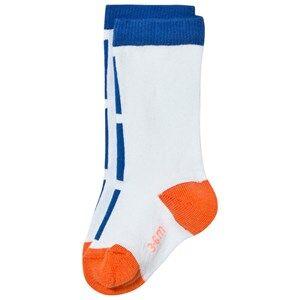 Tinycottons Unisex Underwear Blue Lines High Socks Light Blue/Blue