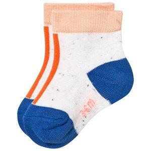 Tinycottons Unisex Underwear White Line Melange Socks Off White/Red