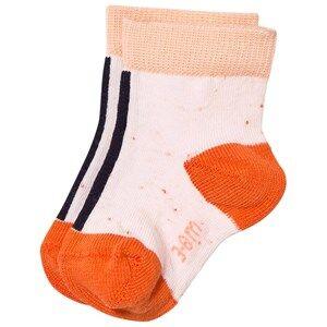 Tinycottons Unisex Underwear Pink Line Melange Socks Pale Pink/Dark Navy