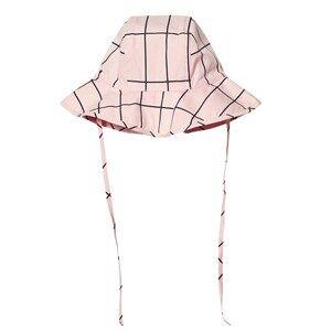 Tinycottons Unisex Headwear Pink Grid Sun Hat Pale Pink/Dark Navy