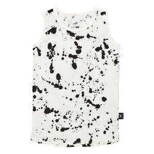 NUNUNU Unisex Tops White Splash Tank Top White