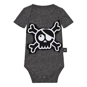 NUNUNU Unisex All in ones Black Skull Patch Body Charcoal