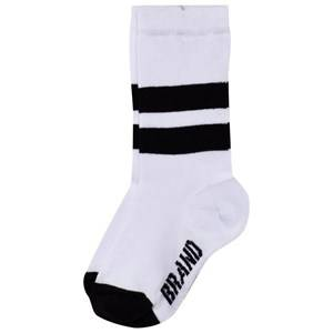 The BRAND Unisex Private Label Underwear White White Knee Socks