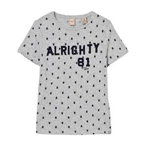 Scotch Shrunk Boys Tops Grey Grey Alrighty Applique and Print Tee